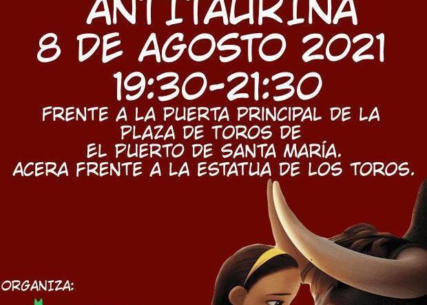 MANIFESTACIÓN ANTITAURINA 8 DE AGOSTO